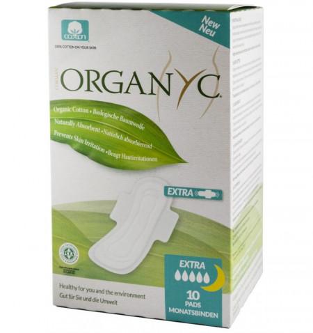 Oragnyc bio absorbante intime din bumbac organic superflow 10buc.