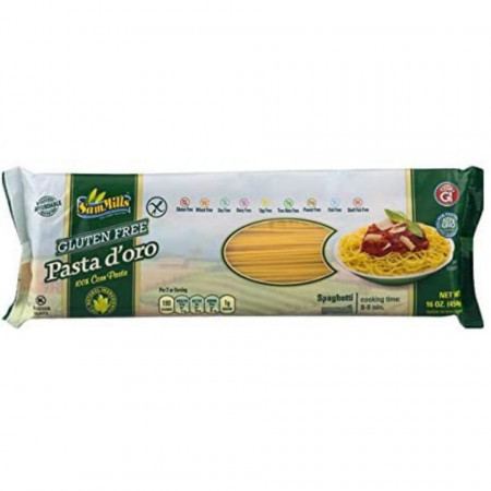 Paste d'oro din porumb fara gluten spaghette 500g