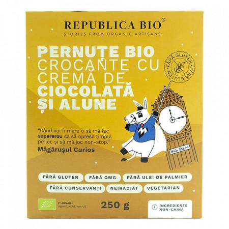 Pernute crocante cu crema de ciocolata si alune 250g Republica Bio