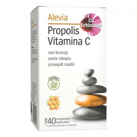 Propolis vitamina C Echinaceea cu stevie x40cp Alevia