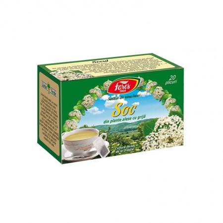 Soc ceai 20 plicuri Fares