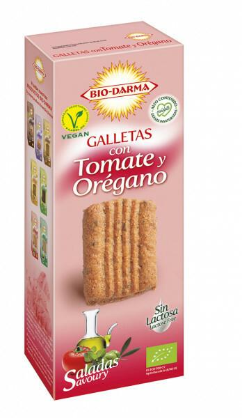 Biscuiti din ovaz cu rosii si oregano Bio 120g Bio Darma