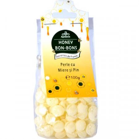Bomboane perle cu miere si pin 100g Apidava