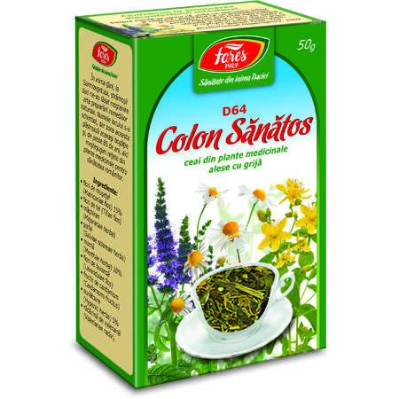 Colon sanatos ceai pg 50g Fares