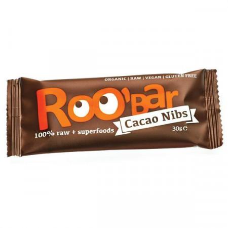 Baton Roobar cacao miez+migdale raw Eco 30g
