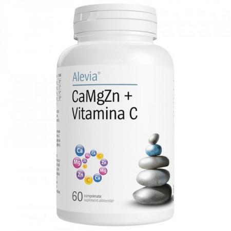 CaMgZn + Vitamina C X 60 cp Alevia