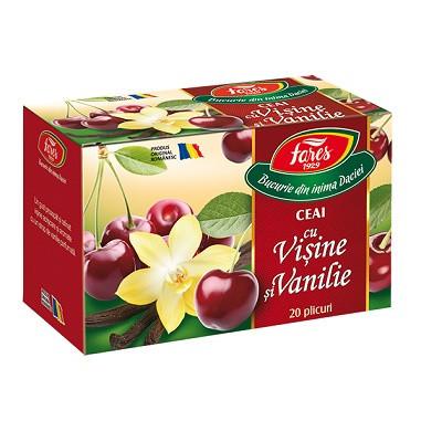 Ceai cu visine si vanilie 20 plicuri Fares