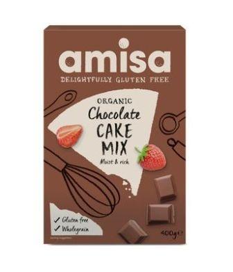 Mix pentru prajitura tort cu ciocolata fara gluten 400g Amisa