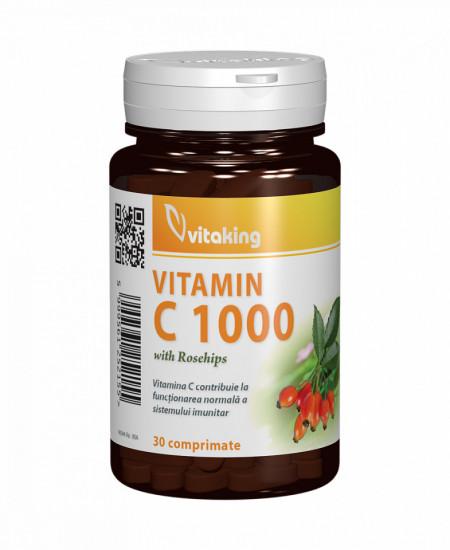 Vitamina C 1000mg cu macese 30cpr Vitaking