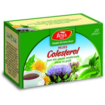 Colesterol ceai 20 plicuri Fares