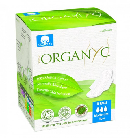 Organyc bio absorbante intime din bumbac organic pentru zi 10buc.