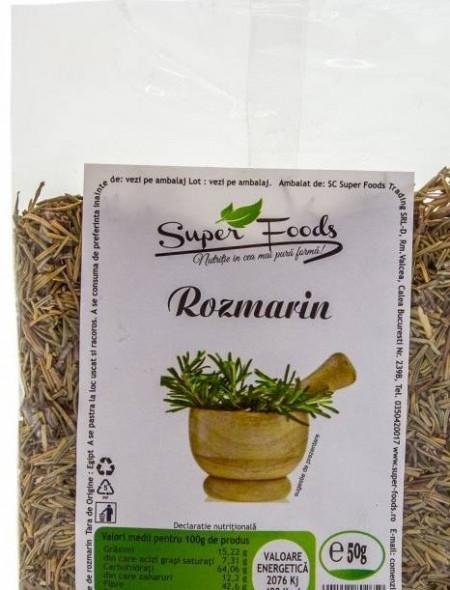Rozmarin frunze 50g Super Foods