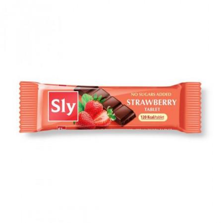 Tableta (ciocolata) capsuni 25g Sly