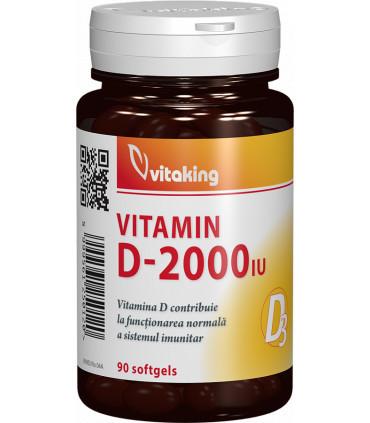 VItamina D3 2000UI 90cps(moi) Vitaking