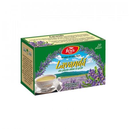 Lavanda ceai 20 plicuri Fares