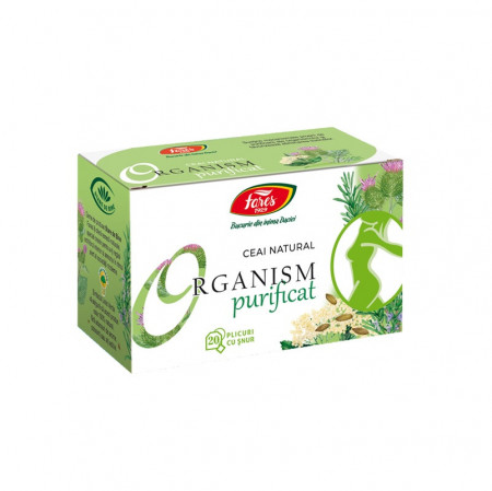 Organism purificat ceai 20 plicuri Fares