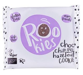 Rookies-cookie cu ciocolata si alune bio 40g