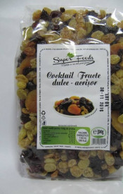 Cocktail fructe dulce acrisor 250g Super Foods