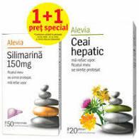 Silimarina 150mg x50cp + ceai hepatic 20 plicuri Alevia