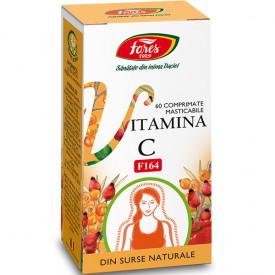 Vitamina C naturala 60cps Fares