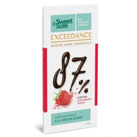 Sweet & Safe ciocolata excedance amaruie capsuni 90gr