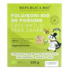 Fulgisori de porumb crocanti fara zahar, fara gluten 225g Republica Bio