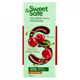 Sweet & Safe ciocolata cu lapte de quinoa si visine 90gr