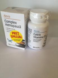 Complex menopauza x30+Ca Vit D3 x40cp Alevia