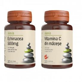 Echinacea 500mg x30cp +Vit C macese 200mg Alevia