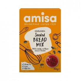 Mix pentru paine fara gluten cu seminte Eco 500gr Amisa
