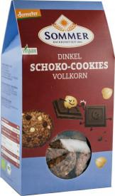Eco/Bio biscuiti din fainia de grau spelta integral cu cioco amaruie si alune 150GR