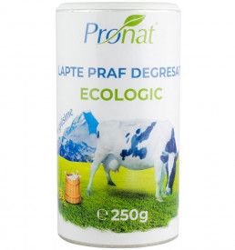 Eco/Bio lapte praf degresat 1% grasime 250g Pronat