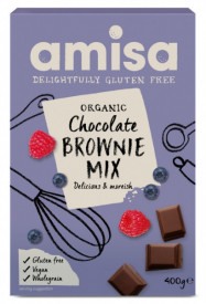 Mix pentru prajitura brownie fara gluten Eco 400gr Amisa