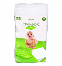Organyc bio dischete patrate din bumbac organic pentru bebe 60buc