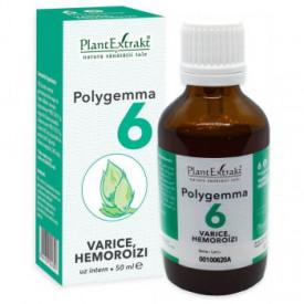 Polygemma nr.6 50ml ( varice-hemoroizi) Plantextrakt