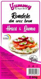 Rondele orez brun Quinoa si Hrisca 60g Super Foods