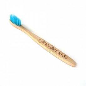 Periuta de dinti pentru copii din bambus albastra Nordics