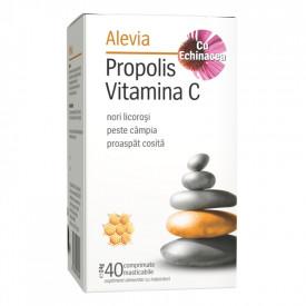 Propolis si vitamina C cu Echinaceea 40cps mast. Alevia