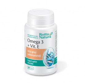 Omega 3 + Vitamina E 30cps Rotta Natura