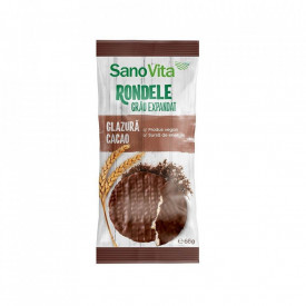 Rondele din orez cu glazura de cacao 60g Sanovita