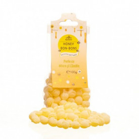 Bomboane perle cu miere si lamaie 100g Apidava