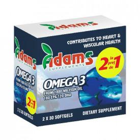 Pachet av99 omega3 1000mg 30cps 1+1 cadou Adams