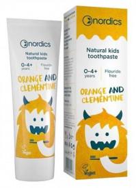 Pasta de dinti naturala pentru copii cu portocale si clemen 50ml