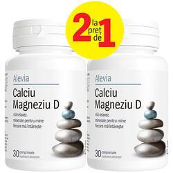 Calciu Magneziu D 30+30cps gratis Alevia