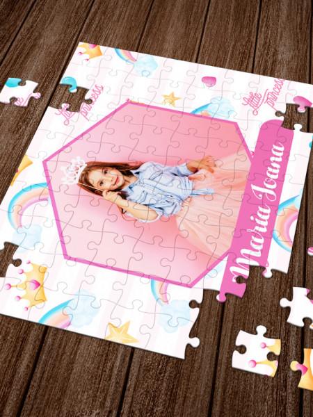 Puzzle personalizat cu o fotografie si nume - princess