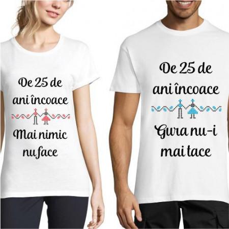 Set de tricouri personalizate Nunta de argint