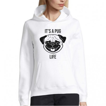Hanorac personalizat Pug Life