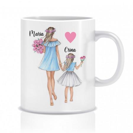 Cana personalizata pentru mame -  MOM&DAUGHTER