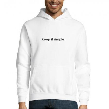 Hanorac personalizat keep it simple
