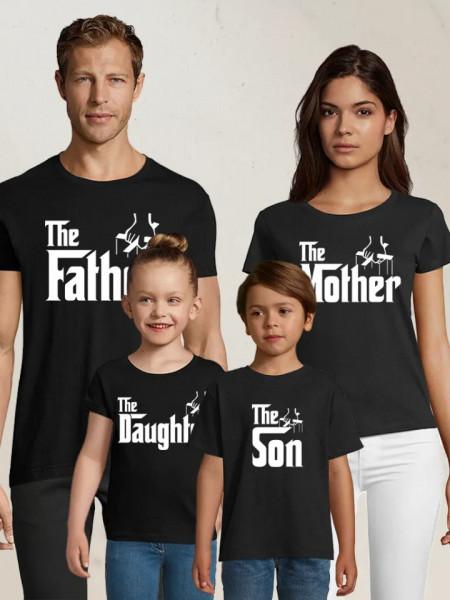 Set de tricouri personalizate familia GodFather